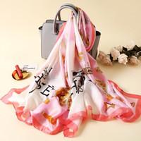 Новый дизайнерский бренд шарф шелковый шарф мода мужчины и женщины роскошный 4 сезон шал шал размер около 180x90см 4 ян бесплатная доставка