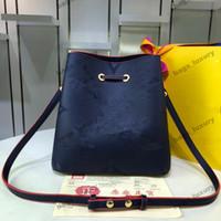 Tote Bag Lady coulisse classico all'ingrosso delle donne in rilievo Borsa Secchiello Moda Borse presbiti Shopping Bag borsa a tracolla Borse