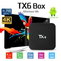 Android 9. 0 tv box TX6 Allwinner H6 Quad Core 4GB 32G 2. 4G W...