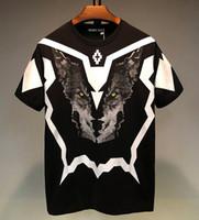 Luxus-Designer-T-Shirt neue Art und Weise Männer Frauen 3D-Wolf-Kopf-Sommer-T-Shirt Qualitäts-Männer Baumwolle Kurzarm-T-Shirts Größe S-XXL