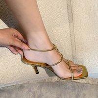 Sandales Yuxiang 2021 Bande étroite Bracelet à la cheville Femmes Mode Marque Mince High High Heel Gladiator Sandal Chaussures Sandal Pump