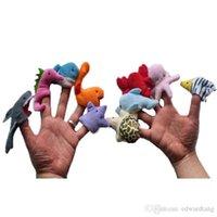 Bonito dos desenhos animados oceano, fantoche de dedo Educação Plush Toy, Pais Kid Interactive, contar a história Props, presentes Xmas Kid aniversário, 2-2