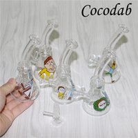 Glass Beaker Bongs Perc Bong 4. 7 Inch Mini Recycler Dab Rig ...