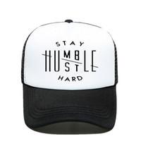 ¡Novedad! Manténgase Humble gorra de béisbol de la prisa con disco de impresión de letras para el papá, Caps acoplamiento de la manera para los hombres y las mujeres, sombreros con los huesos y garras