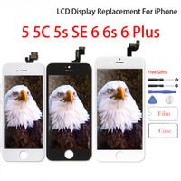 iPhone 6 6s için Pantalla LCD iPhone 5 5C 5s Sayısallaştırıcı Meclisi Ekran Değiştirme Yok Ölü Piksel Cep Telefonu LCD