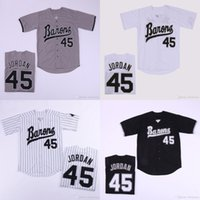 Mens Birmingham Barons Michael 45 # Jerseys Button Down Movie Baseball Jersey 더블 스티치 이름과 번호가 높은 Quailty