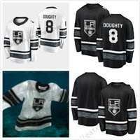 Pas cher 2019 All Star Jerseys Hommes 8 Drew Doughty Los Angeles Kings Noir Blanc Blank Top Qualité Hommes 2019 All-Star Patch Hockey Jersey
