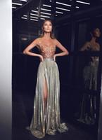 Sheath 플러스 크기 블랙 소녀 파티 드레스 긴 아프리카 나이지리아 Yousef Aljasmi 분할 우아한 저녁 공식적인 드레스 페르시 아라비아 2019