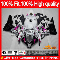 100% Fit injection pour HONDA CBR 600 RR CC 600RR 600F5 CBR600RR F5 07 08 67HC.53 Graffiti rose CBR600F5 600CC CBR600 RR 2007 2008 OEM Carénage
