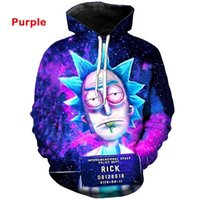 wholesale Fashion Rick Cartoon Clothes 3D Printing Sublimati...