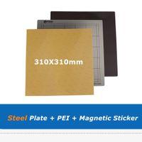 310*310 мм платформа пружинная стальная пластина + PEI лист + B боковой магнитный парник наклейка для CR10 CR10S 3D-принтер частей Heatbed