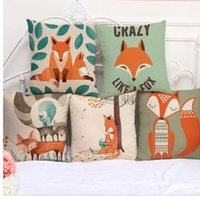 Pillow Decorative Fox Print Pillow Case 45*45 Pillow Cases Home Decorative Pillowcases