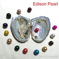 2020 Giant DIY Biżuteria Pojedynczy Natural 9-12mm Kolorowe Blisko Round Edison Pearl Oystrzy z Prosiakową Natural Hodowaną Pearl