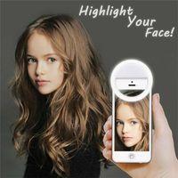 USB Charge Portable selfie flash LED téléphone appareil photo Annulaire Amélioration Photographie pour Smartphone iPhone Samsung