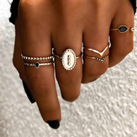 Fashion Charm Gold Color Midi Finger Ring Set for Women Anti...