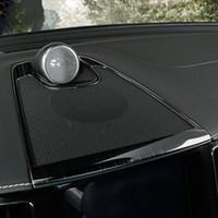 Araba Merkezi Konsol Pano Ses Hoparlör Çerçeve Dekorasyon Kapak Trim için Volvo XC60 2018 Paslanmaz Çelik İç Çıkartmaları