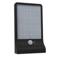 야외 42 LED 가로등 흰 벽 조명 태양 광 램프 인체 센서 + 조명 제어