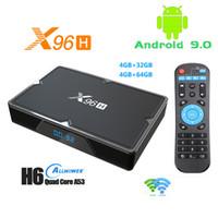 X96H Android 9.0 TV Box 4GB 32GB 64GB 6K المزدوج واي فاي بلوتوث الذكية مجموعة الأعلى VS X96 HK1 H96