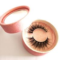 ك ك جلدة 3D رمش المنك الطبيعي سميكة الرموش الرموش الصناعية الشعر الطبيعي 3D الرموش شعار خاصة بالجملة