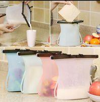 1000 мл силиконовые свежие сумки многоразовые складной холодильник молоко фрукты мясо уплотнения свежий мешок хранения продуктов питания мешок силикона LJJK1168