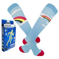 Findcool Fashion Compression Running Socks Donna Supporto Claf per vene varicose