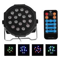 Par Işık 30 W 18 LED Sahne Aydınlatma RGB Otomatik Ses Kontrolü DMX512 Yüksek Parlaklık Mini Lamba
