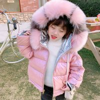 WLG girls winter coats kids double sides hooded long sleeve ...
