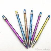 Colorful titanio Dab strumento di cera di petrolio Domeless matita colorata Titanio Chiodo con Titanium Dabber per Tubi bicchiere d'acqua