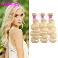 Indian cru Humain Cheveux 4pieces Blonde Body Wave 613 Couleur Cheveux Tissu Blonde Double Wefts Pure Blonde Pure Blonde 10-30inch