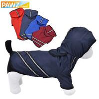 PAWZRoad Dog Raincoat Vêtements pour chiens Vêtements pour animaux domestiques Vêtements Respirant Vêtements pour animaux Reflective chiot Manteau imperméable pour chien Veste TShirt