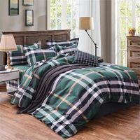 2020 Verde Stripe Bedding Sets 4 Pcs Bed Terno folha edredon cobrir fronha Designer cama Supplies