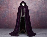 Velours cloak gothique vampire wicca robe médiéval larp cosplay Cape féminin femmes vestes wraps manteaux caps