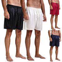 HIRIGIN Pigiama da uomo in raso di seta Pigiama Pantaloncini Pantaloncini da spiaggia Pantaloncini da notte senza boxer S ~ XL
