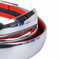 Universal Chrome Car Styling Moulding Strip Cuerpo Parachoques Auto Puerta Protector de la etiqueta engomada Decoración Exterior 6mm 8mm 10mm 12mm 15mm 18mm