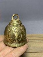 Antik antik bronz toplama bakır çan eski bakır Tibet çan el yapımı saf bakır enfes Buda başı çan yeni paket