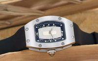 Известные новые женские часы Diamond Big Skeleton Резиновый ремешок со стеклянной спинкой Женские механические автоматические женские наручные часы