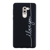 Coque Fundas Couverture Pour Huawei Honor 6X / GR5 2017 Cas Noir Doux TPU Mat Coups simples de la personnalité Cas de téléphone portable