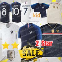 209689b0c9a 18 19 new 2 Stars 10 MBAPPE Soccer Jerseys 7 GRIEZMANN 6 POGBA 2018 world  cup 13 KANTE 11 DEMBELE Thai quality jersey
