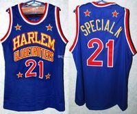Harlem Globetrotter Kevin Especial K Daley # 21 Retro Basquetebol Jersey Masculino Costume Número Personalizado Nome Nome Jerseys