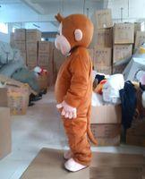2019 Fabrikverkauf neuer Curious George Affe-Maskottchen-Kostüm-Karikatur-Abendkleid-Halloween-Partei-Kostüm-Erwachsen-Größe