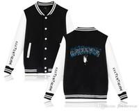Mens XXXTENTACION Colegio chaqueta del béisbol de las mujeres de moda solo pecho con paneles de capa delgada Tops amantes chaqueta del béisbol sudaderas Imprimir Outwear
