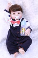 wholesale 55CM Full Silicone Reborn babies Doll Toys Alive B...