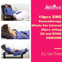 3in1 Presoterapia Infrarrojo lejano disolver la presión del aire drenaje linfático masajeador EMS dispositivo de pérdida de peso para adelgazar