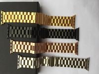 Sangle d'acier inoxydable d'Epacket 1pcs 1pcs avec connecteur de l'adaptateur Bandes de montres de raccordement de raccordement pour Apple Watch Series 38/40 42 / 44mm