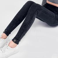 Plus Size Cotton Ripped High Waist Boyfriend-Jeans Women`s Black High Stretch-Denim-Hosen Mom Jeans Femme Für Frauen D65