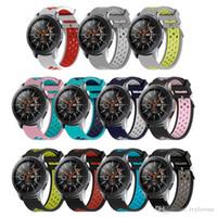 Silikon Samsung Galaxy Watch Band için WatchBands Samsung Galaxy 42mm 46mm değiştirme Spor Saatler wristStrap 20mm 22mm sıcak satış