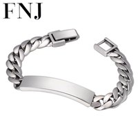 FNJ Link Chain Bracelet 925 Silver Simple Fashion 18cm 20cm ...