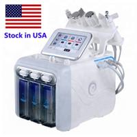 6in1 Hydra Yüz Makinesi RF Cilt Rejuvenaiton Mikrodermabrazyon Hidro Dermabrazyon Bio-Kaldırma Kırışıklık Temizleme ABD'de Hidrakasiyal Spa Stok