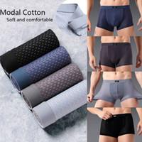 Marque New Style 4Pcs Hommes Comfy Respirant Sous-vêtements sans couture Sous-vêtements Modal Boxer Shorts