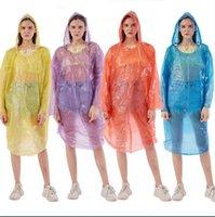 يمكن التخلص منها معطف واق من المطر PE السفر معطف المطر المعطف ملابس ضد المطر المحمولة في الهواء الطلق للماء المطر مرة واحدة ملابس OOA7876